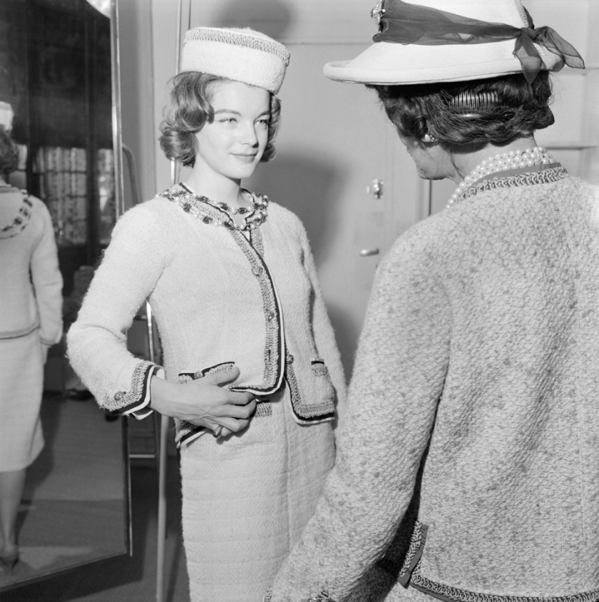 Actress Romy Schneider with Gabrielle Chanel during a fitting in 1960-® BottiStillsGAMMA